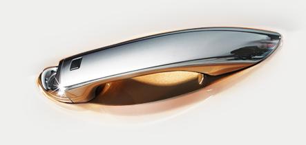 Chrome-coated outside handles